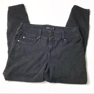 Torrid high rise stretch black skinny jeans